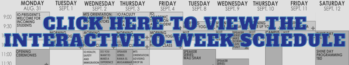 Click Here to View the Interactive O-Week Schedule